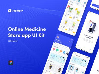 Medtech 药店、医药电商app ui .fig素材下载