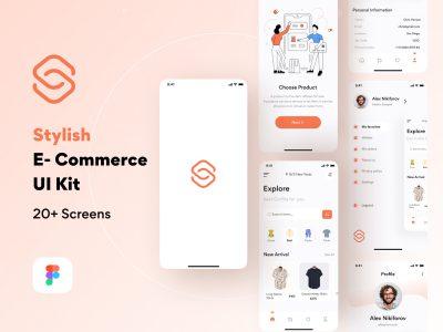 Stylish服装电商app ui .fig素材下载